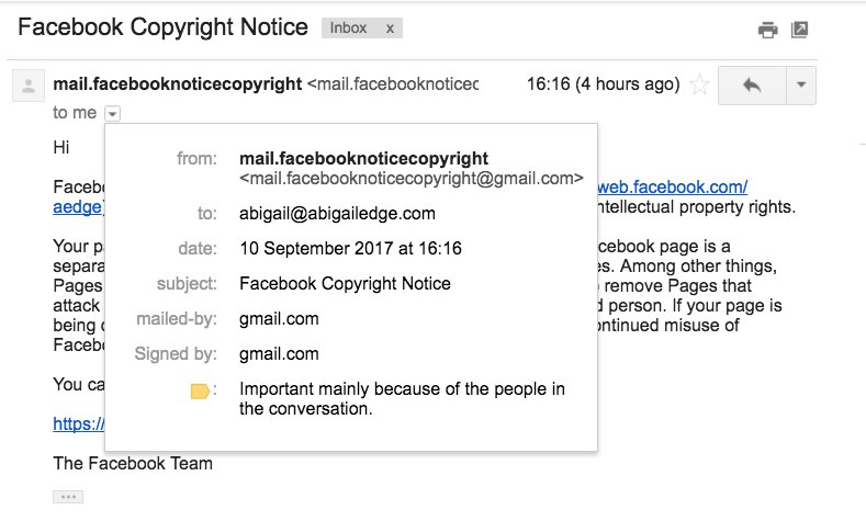 Abigail Edge on Twitter \ - notice of copyright importance