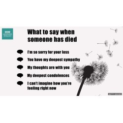 Small Crop Of What To Say When Someone Dies