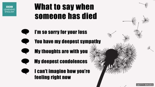 Medium Of What To Say When Someone Dies