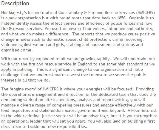 HMICFRS on Twitter \ - chief operating officer job description