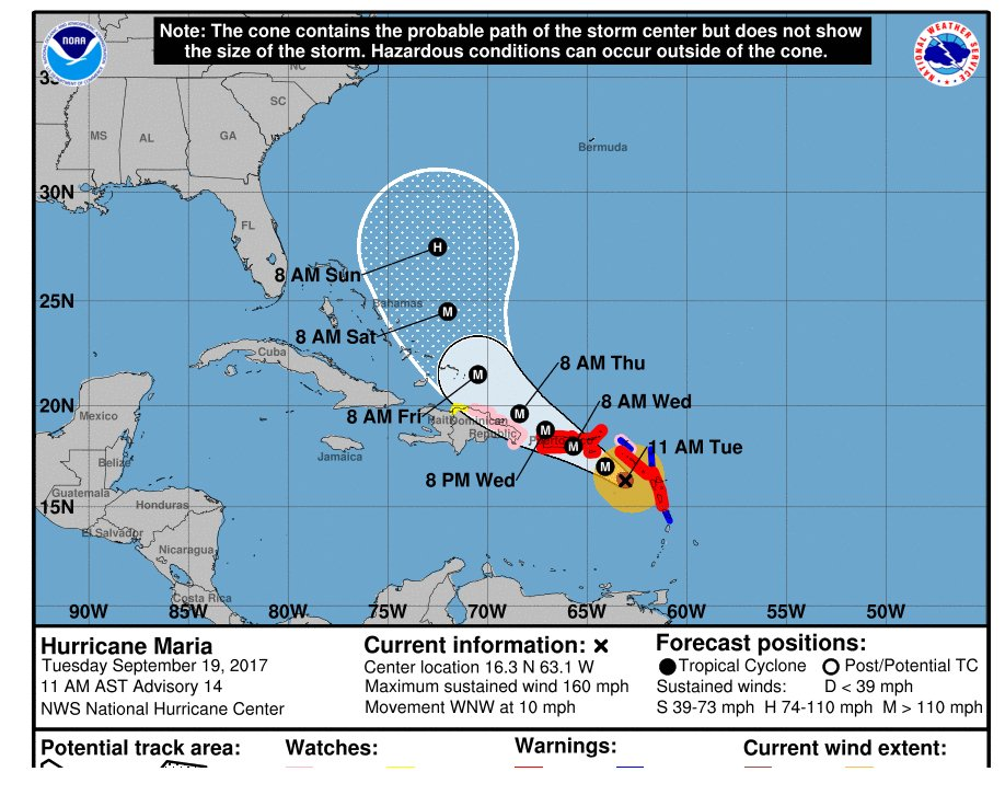 Death reported in Guadeloupe as storm Maria hits \u2013 as it happened
