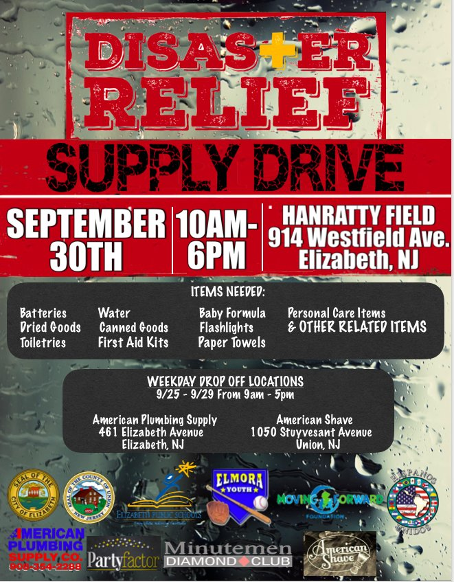 County of Union, NJ on Twitter \ - disaster relief flyer