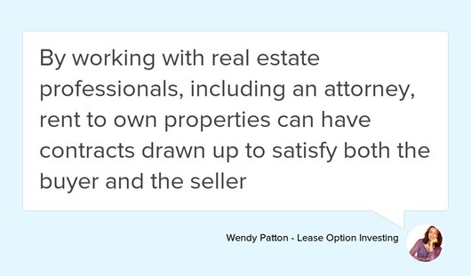 Wendy Patton (@WendyAPatton) Twitter - rent with option to buy contract