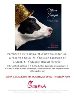 Small Of Chick Fil A Cow Calendar