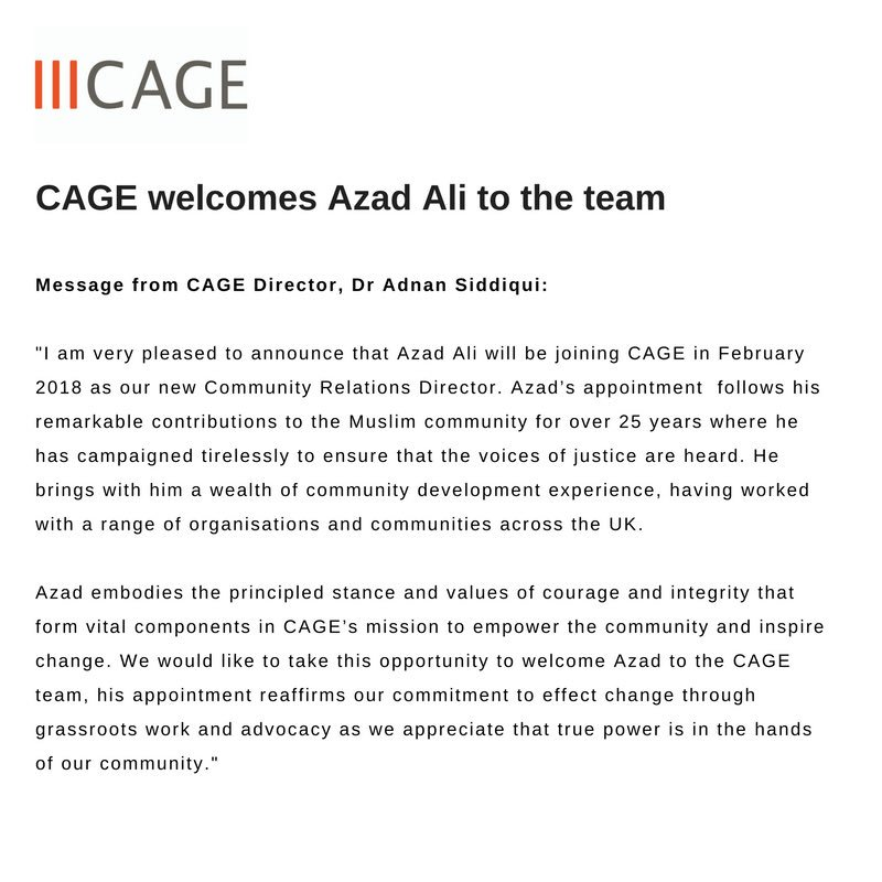 CAGE on Twitter \