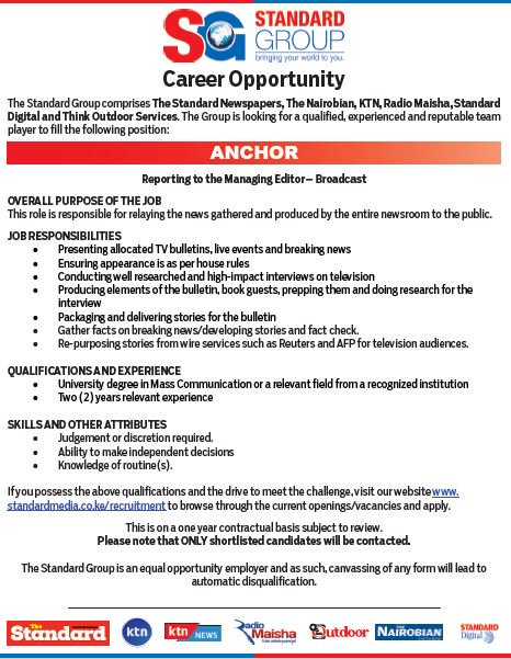 The standard group is looking for qualified and experienced team