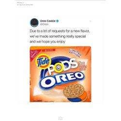 Perky Replies Retweets Likes Oreo Cookie On No Tide Pod Oreos Twitter Are Tide Pod Oreos A Thing nice food Tide Pod Oreos