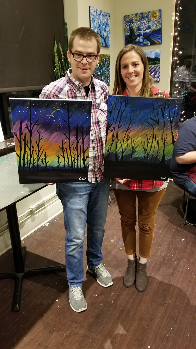 Arte Wine And Paint Wauwatosa Lyndsey Wallace Lynzywallace Twitter