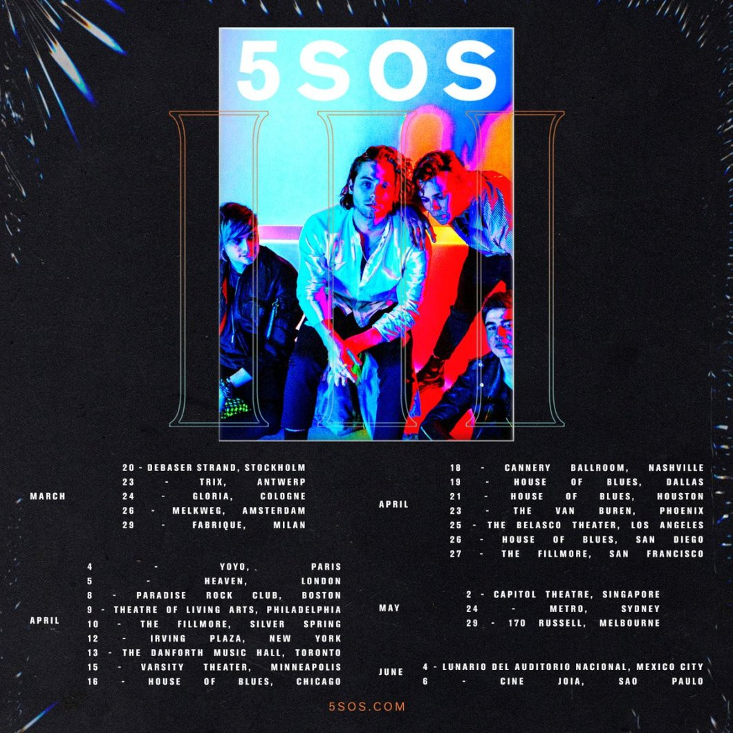 5 Seconds Of Summer Dallas 2018 Find Your World