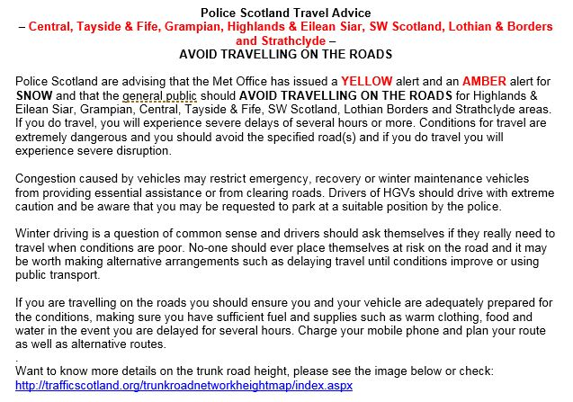 Traffic Scotland on Twitter \