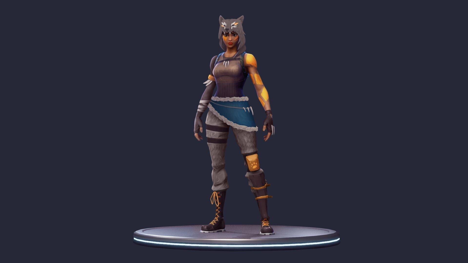 Minecraft Skin Wallpaper Girl Fortnite Battle Royale News On Twitter Quot Wolf Girl Skin