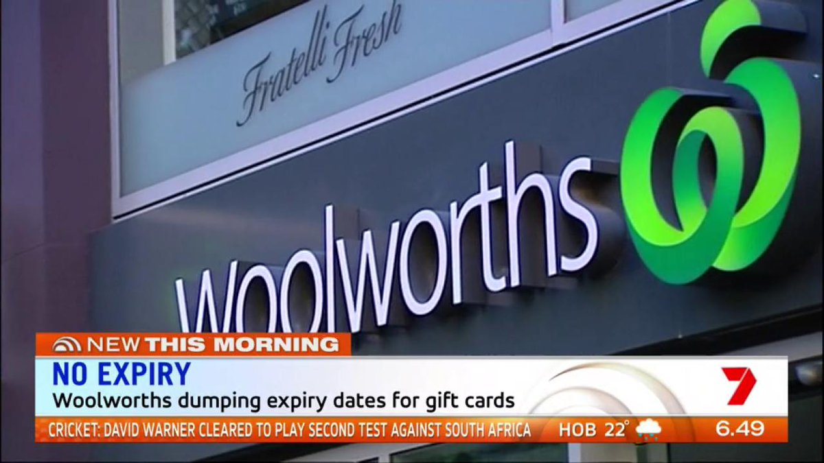 Gift Card Woolworths Sunrise On Twitter