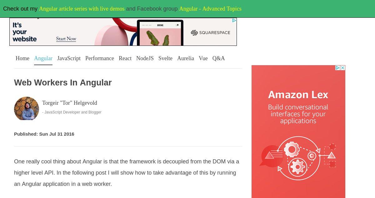 JSFeeds - web workers in angular