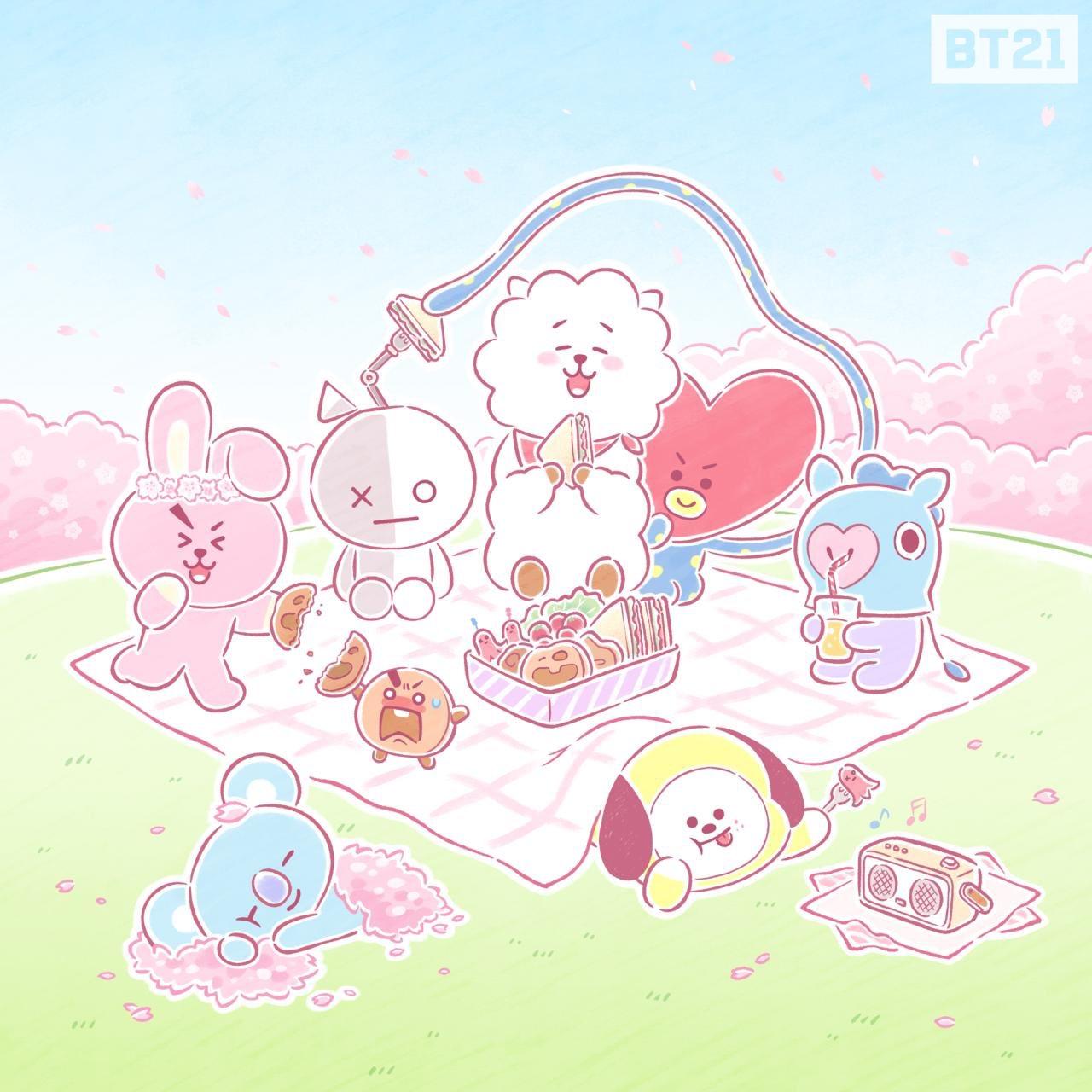 Bts Cute Wallpaper Bt21