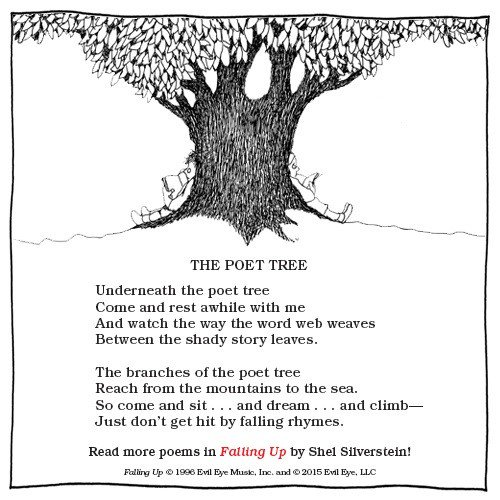 Shell Silverstein Wallpaper Quotes Harperkids On Twitter Quot Happy Poet Tree Month Celebrate