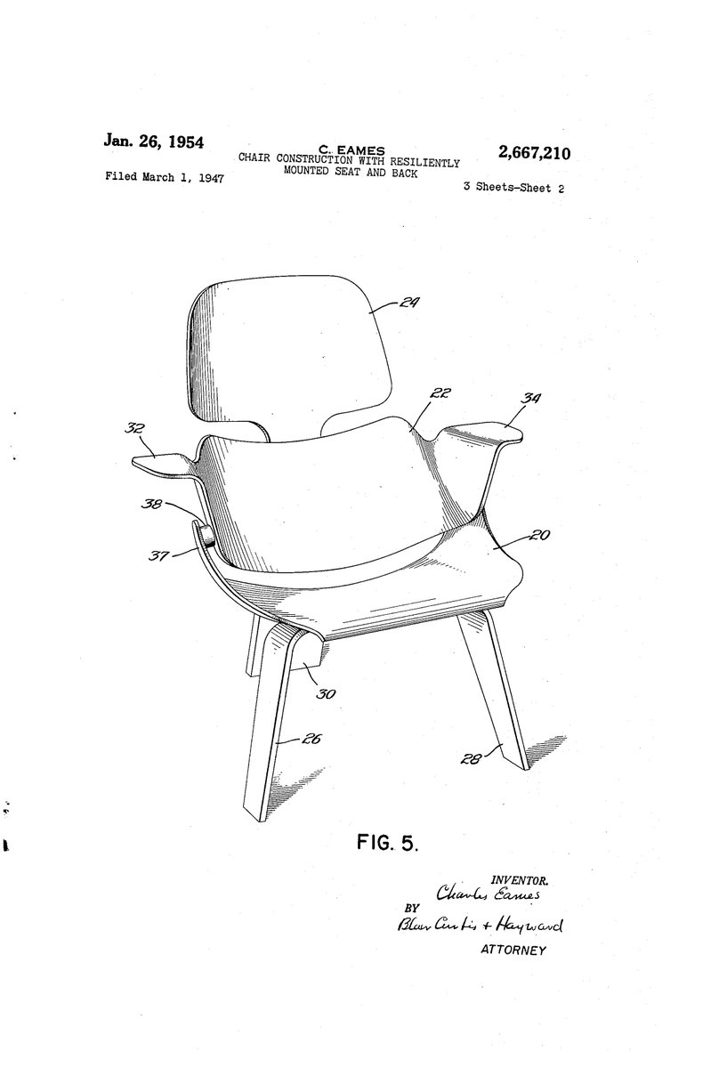 Eames Chair Patent Alessandro Musetta On Twitter