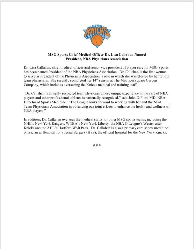NY_KnicksPR on Twitter \