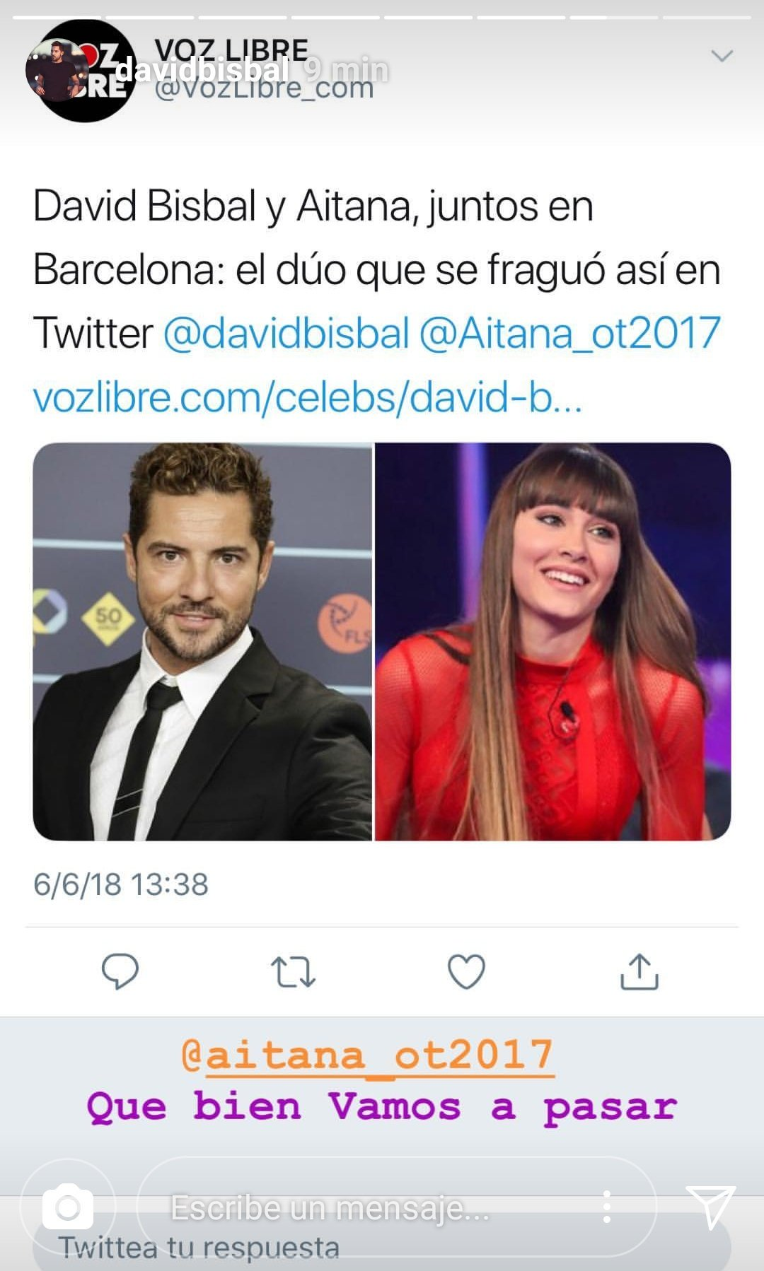 La Voz Libre David Bisbal Aitana Dailyes On Twitter