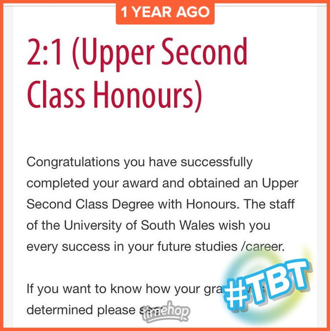 upper second class honours degree