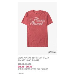 Small Crop Of Pizza Planet Shirt