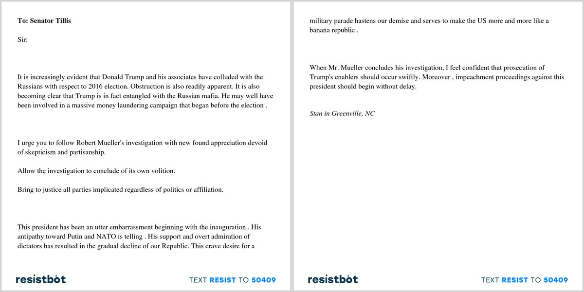 Resistbot Open Letters on Twitter \ - Admiration Letter