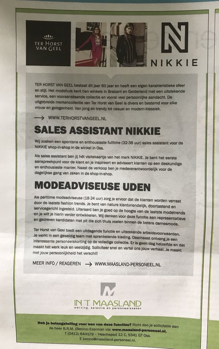 Parttime Vacatures Uden Peter Ter Horst On Twitter