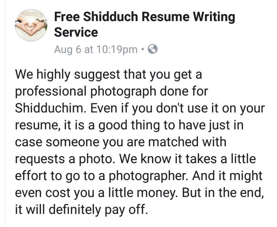 Free Shidduch Resume Writing Service (@ShidduchResume) Twitter