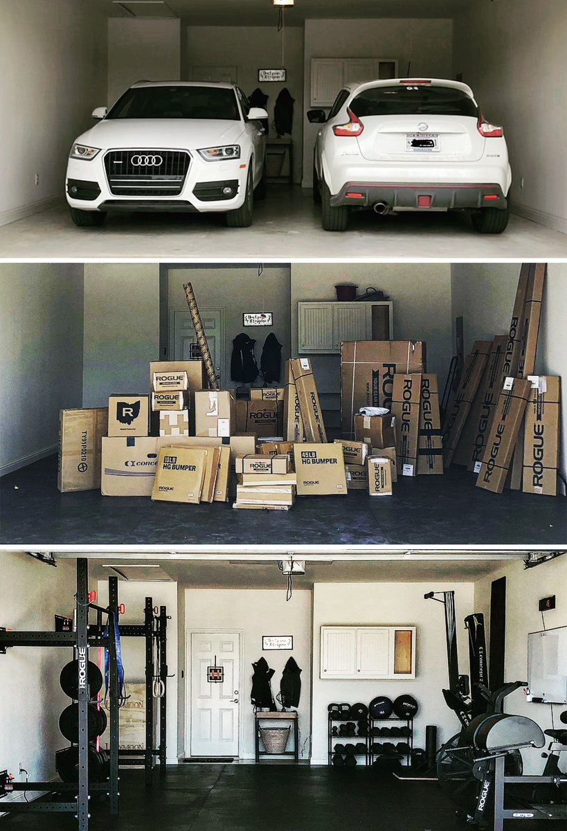 Garage Gym With Car Rogue Fitness On Twitter