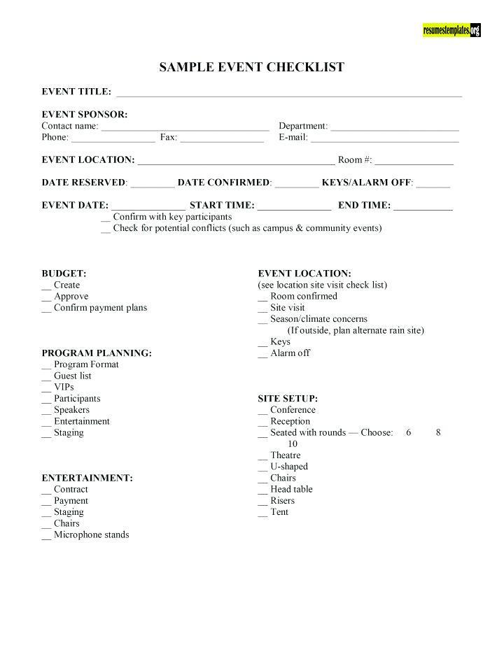 Resume Templates on Twitter \ - event coordinator contract sample