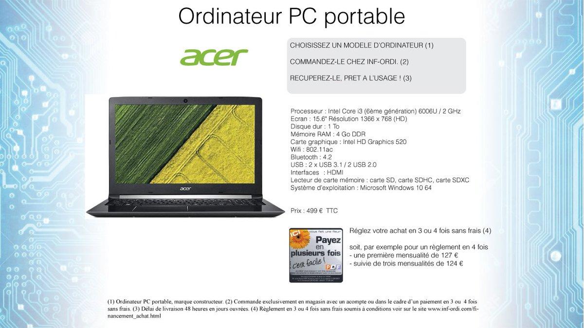 acheter ordinateur portable payable plusieurs fois