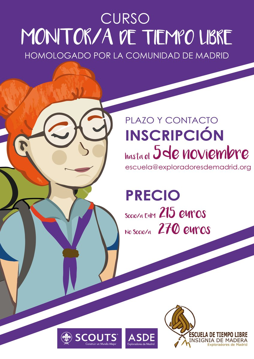 Cursos Monitor Tiempo Libre Madrid Asde Exploradores De Madrid On Twitter