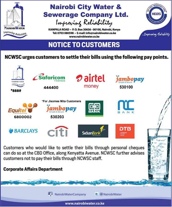 Nairobi Water on Twitter \