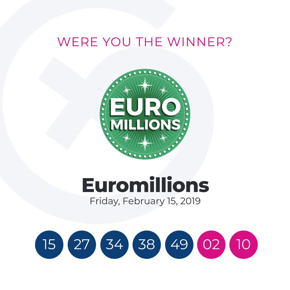 Lotto Euromillions The Euromillions Lottery Results Are In Lotto Tweet Added By