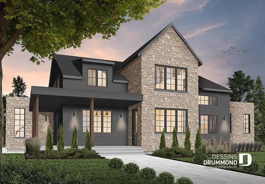 Plan de Maison Plan de rénovation (@DessinsDrummond) Twitter - Photos De Maison Moderne