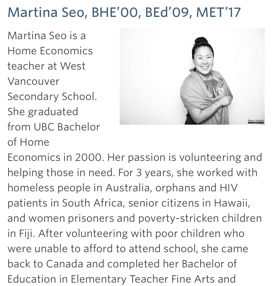 Martina Seo Martinaseo Twitter - Home Economics Teacher Ubc