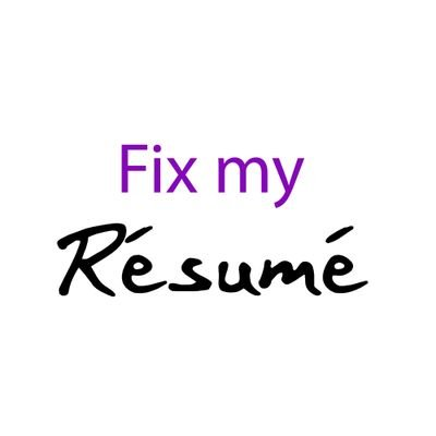 Fix My Resume (@fixmyresumeME) Twitter