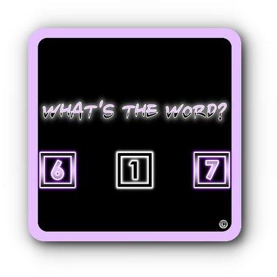 What\u0027s The Word? (@WhatsTheWord617) Twitter