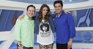 Celso Zucatelli, Chris Flores e Edu Guedes, ex-apresentadores do matinal Hoje Em Dia.
