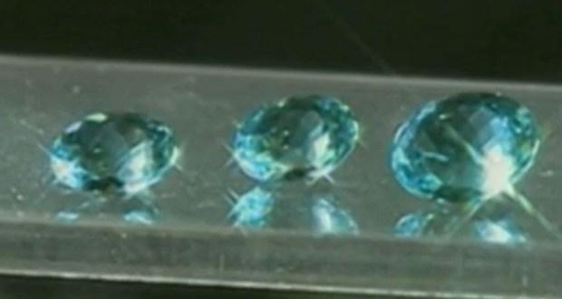 Turmalina paraíba é considerada uma das pedras mais caras do mundo; uma única pedra de turmalina azul pode chegar a valer R$ 3 milhões (Foto: Reprodução/TV Cabo Branco)