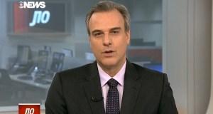 Circula nos bastidores da GloboNews o boato de que Grillo foi vítima de disputas internas e da crise de audiência pela qual passa o Jornal das Dez.