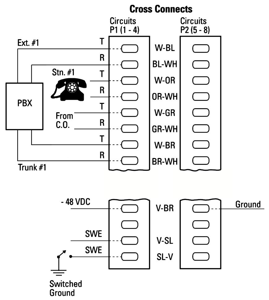 wiring diagram for avaya 4 pair phones