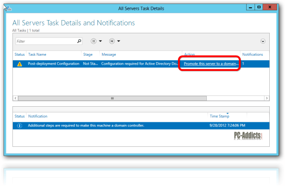 Server 2012 Promote to Domain Controller