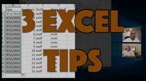 3 Quick & Easy Excel Tips