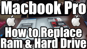 Macbook Pro RAM and Hard Drive Replacement