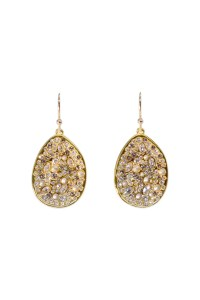Gold Pave Teardrop Earring by Alexis Bittar for $116 ...