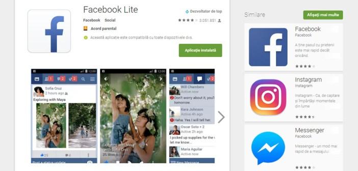 Facebook lanseaza Messenger Lite pentru utilizatorii de smartphone-uri slabe