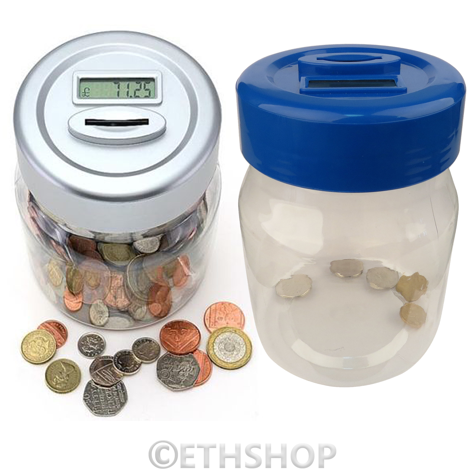Piggy Bank With Counter Digital Lcd Coin Counter Uk Coins Saving Safe Piggy Bank