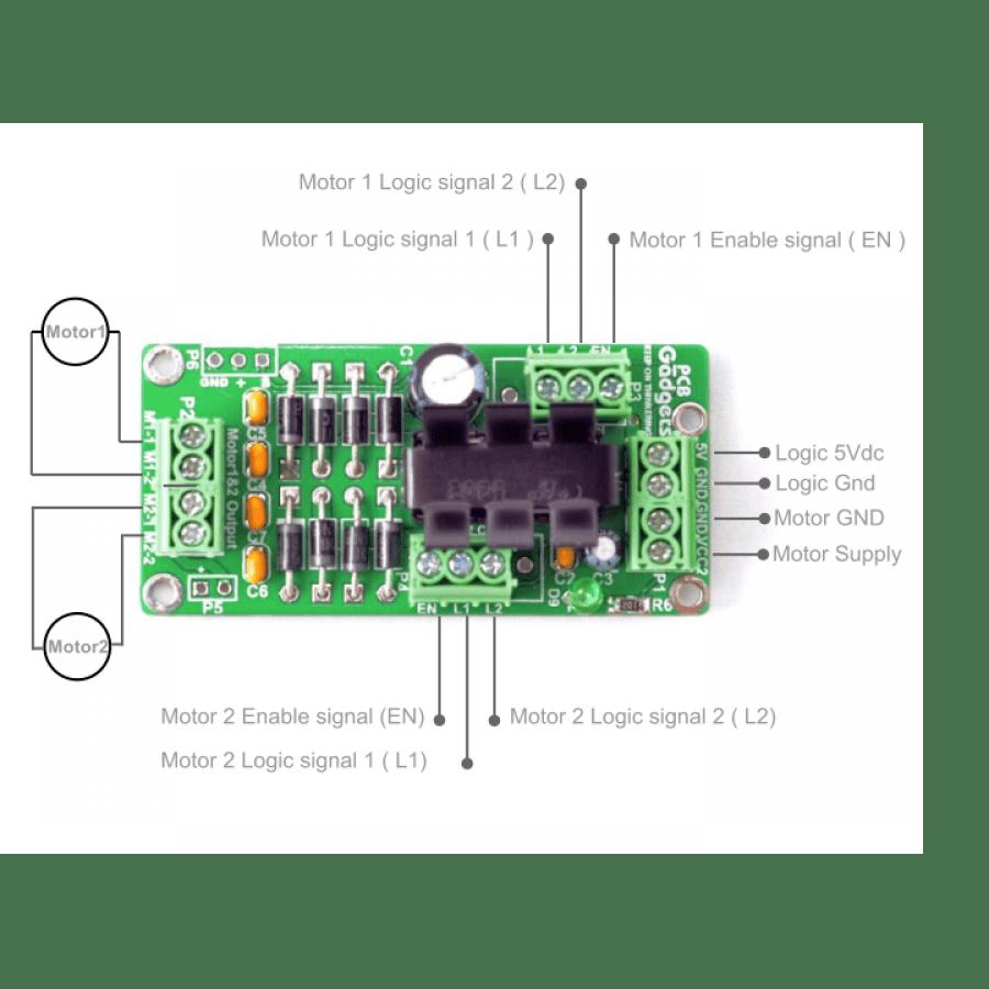Sn754410 H Auto Electrical Wiring Diagram Two Phase Motor Driver Circuit Using Bridge