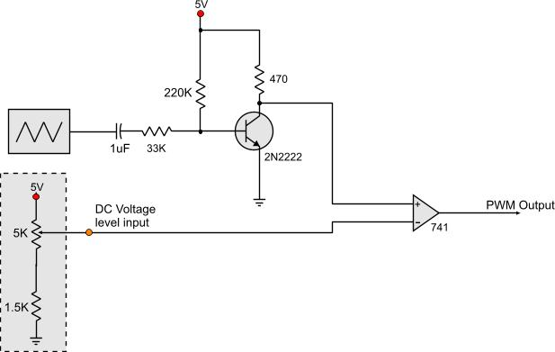 following is the schematic of the voltage controlled pwm generator