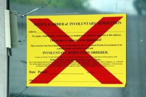 Notice of Involuntary Demolition